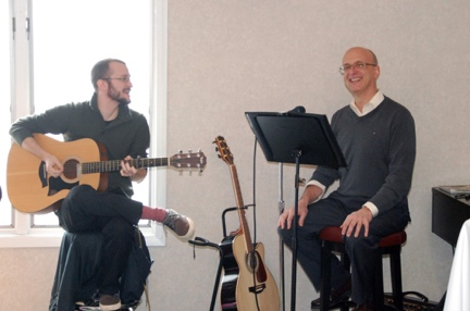 Our music director: father and son…